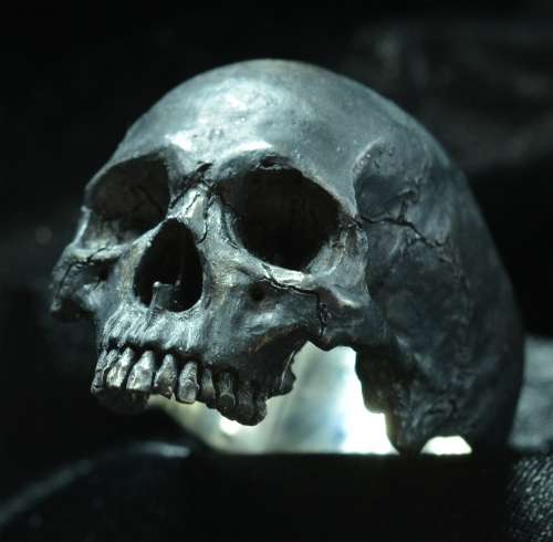 Large Half Jaw • .925 Sterling Silver • Skull Ring •