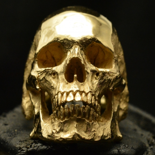 Mid Size Full Jaw • 18k Rose | Yellow Gold • Skull Ring •