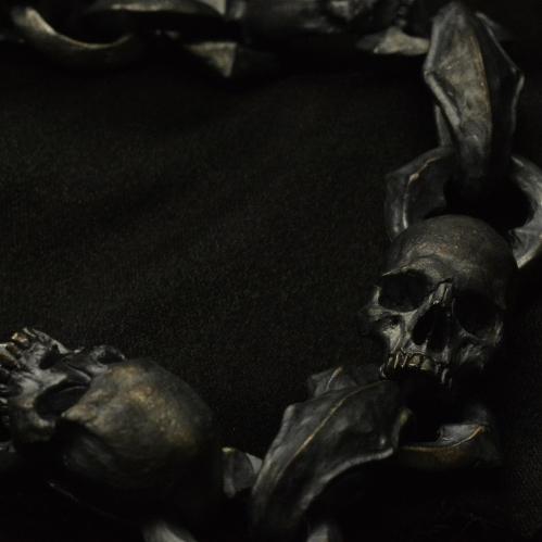 Half Jaw Skull Bracelet • .925 Sterling Silver • Chain •