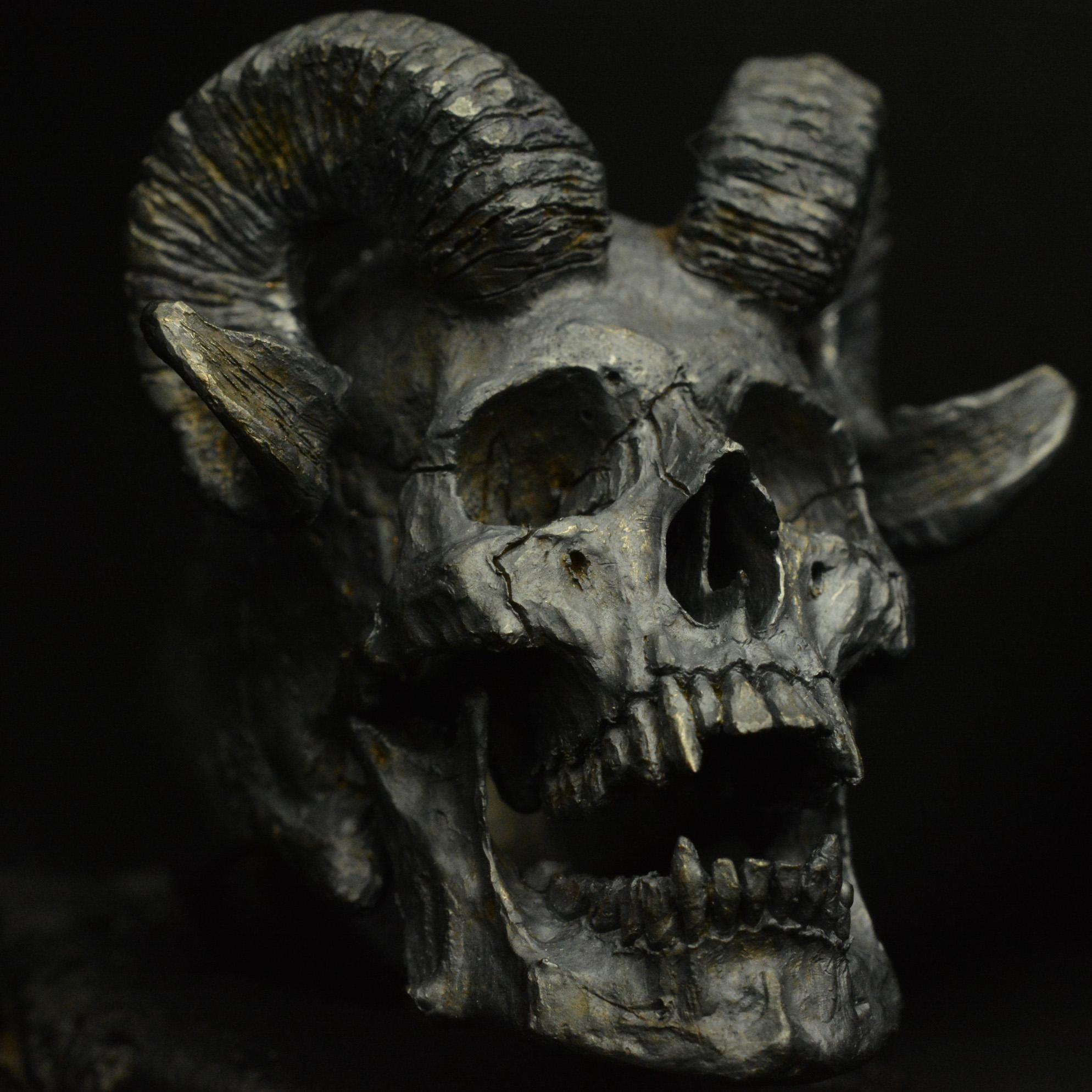 Horned Beast • .925 Sterling Silver • Skull Ring