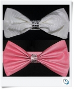 Bling diamante Bow tie backs