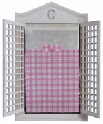"Pink & White gingham 15"" w x 25"""