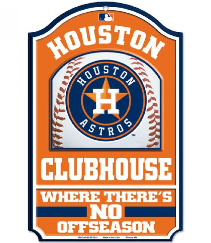 Houston Astros Mlb Wood Sign 11x17 Clubhouse Office Home