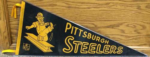 Pittsburgh Steelers Nfl 1960s Vintage Pennant