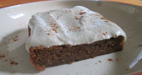PUMPKIN BARS WITH CREAM CHEESE ICING (GLUTEN FREE, DAIRY FREE, AND EGG FREE) ~E.G.PLOTTPALMTREES.COM