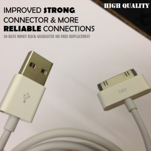 Iphone Charger USB Cable for Iphone4, 4s, 3gs, 3g, Ipad2, Ipod